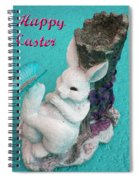 Happy Easter Card 6 Spiral Notebook