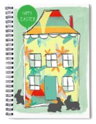 Happy Easter Card Spiral Notebook