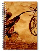 Happy Easter Coffee Art Spiral Notebook