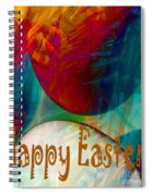 Happy Easter Greeting Card Spiral Notebook