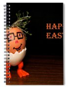 Happy Easter Greeting Card. Funny Eggmen Series Spiral Notebook
