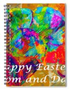 Happy Easter Mom And Dad Spiral Notebook