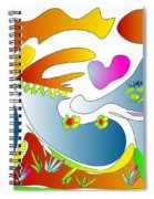 Happy Face Of Spring Spiral Notebook