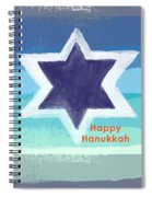 Happy Hanukkah Card Spiral Notebook