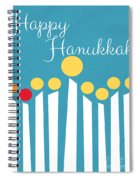 Happy Hanukkah Menorah Card Spiral Notebook