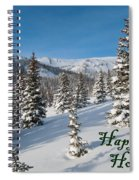 Happy Holidays - Winter Wonderland Spiral Notebook