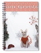 Happy Holidays 105 Spiral Notebook