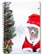 Xmas Holidays Greeting Card 108 Spiral Notebook
