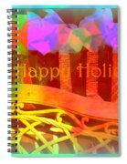 Happy Holidays - Christmas Packages - Holiday And Christmas Card Spiral Notebook