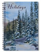 Happy Holidays Forest And Mountains Spiral Notebook
