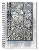 Happy Holidays Greeting - Icicles On Trees Spiral Notebook