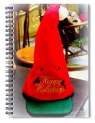 Happy Holidays Greeting Spiral Notebook
