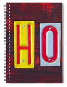 Happy Holidays License Plate Art Letter Sign Spiral Notebook