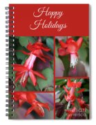 Happy Holidays Natural Christmas Card Or Canvas Spiral Notebook