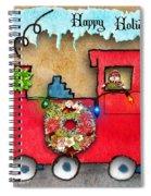 Happy Holidays Train Spiral Notebook