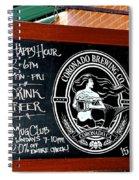 Happy Hour In Coronado Spiral Notebook