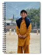 Happy Laughing Pathan Boy In Swat Valley Pakistan Spiral Notebook