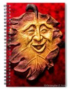 Happy Leaf Spiral Notebook
