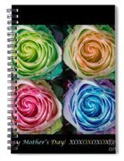 Happy Mothers Day Hugs Kisses And Colorful Rose Spirals Spiral Notebook