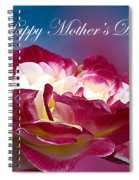 Happy Mother's Day Red Pink White Rose Spiral Notebook