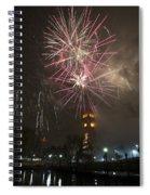 Happy New Year 2014c Spiral Notebook