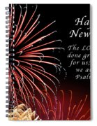 Happy New Year Psalm 123-3 Spiral Notebook