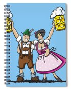 Happy Oktoberfest Couple Beer Spiral Notebook