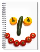 Happy Veggie Face Spiral Notebook