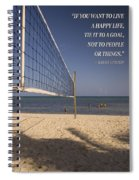 Happy Volleyball Goal Spiral Notebook