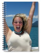 Happy Woman On Holiday  Spiral Notebook