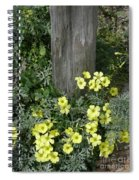 Happy Yellow Flowers Spiral Notebook