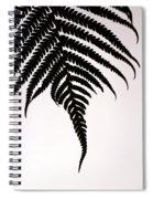 Hapu'u Frond Leaf Silhouette Spiral Notebook