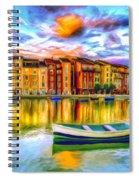 Harbor At Sunset Spiral Notebook