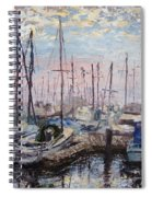 Harbor In Early Morning Spiral Notebook