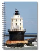 Harbor Of Refuge Light  And Breakwater Spiral Notebook