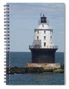 Harbor Of Refuge Lighthouse IIi Spiral Notebook