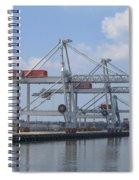 Harbor Rotterdam Spiral Notebook