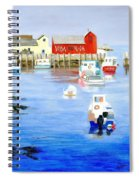 Harbor Scene Spiral Notebook