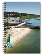 Harbor Town Beach 3 In Hilton Head Spiral Notebook