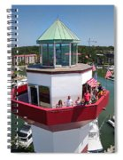 Harbor Town Lighthouse In Hilton Head Spiral Notebook