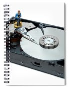 Hard Drive Backup Spiral Notebook