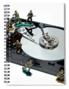 Hard Drive Defense  Spiral Notebook