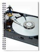 Hard Drive Firewall Spiral Notebook