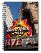 Hard Rock Cafe Guitar Sign In Philadelphia Spiral Notebook