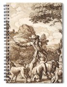 Hare Hunting, Engraved By Wenceslaus Spiral Notebook