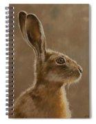 Hare Portrait I Spiral Notebook