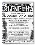 Harlene For The Hair, 1897 Spiral Notebook