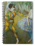 Harlequin And Columbine Spiral Notebook