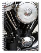 Harley Chrome And Steel Spiral Notebook