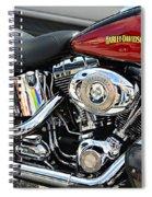 Harley Chrome Spiral Notebook